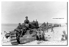 Destroyed Tank Pictures: some graphic photos. - german-soldiers-british-churchill-tanks-dieppe-raid-august-19-1942