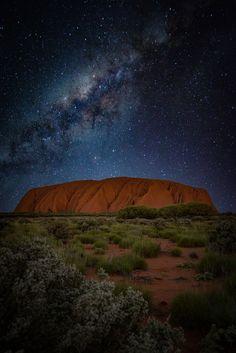 "Uluru, or Ayers Rock, is a massive sandstone monolith in the heart of the Northern Territory's arid ""Red Centre"" Australian Photography, Nature Photography, Travel Photography, Australia Travel Guide, Visit Australia, Australia Honeymoon, Aussie Australia, Ayers Rock Australia, Australia Wallpaper"