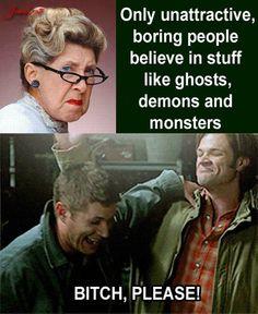 Unattractive?  BORING???  Meet Dean and Sam Winchester!!
