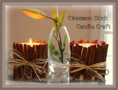 Cinnamon Stick Candle Craft - so pretty and smell great!