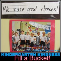 Kindergarten Bucket Filling, Positive Behavior Article -- 19 Examples of Class Rules, Promises + Pledges