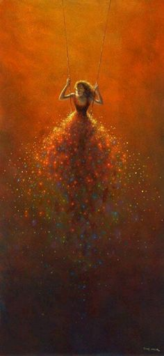 """By Jimmy Lawlor.because I love to """"swing"""" this makes me love this painting Jimmy Lawlor, Art Graphique, Beautiful Artwork, Belle Photo, Love Art, Oeuvre D'art, Painting & Drawing, Swing Painting, Drawing Eyes"""