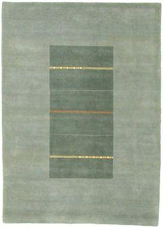 5' 8 x 8' 0 Green Indo Tibet Oriental Rugs