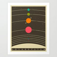 Solar System Art Print by Jazzberry Blue - $19.00