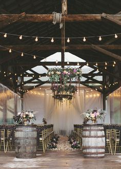 Pretty plum and gold ceremony site ~ we ❤ this! moncheribridals.com