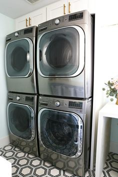 Choosing the right washer and dryer for your laundry room can be really stressful. I am sharing about my process and how I choose my washer and dryer.