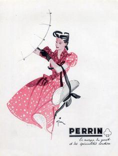 Perrin (Gloves) 1943 René Gruau