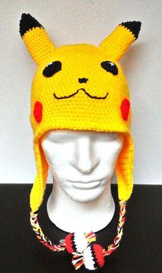 PIKACHU inspired crochet hat   Pokemon di DifferenThingsItaly
