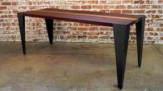 23 Steel End Table Tapered Legs Under-Mount Rust Steel Dining Table, Steel Coffee Table, Dining Table Legs, Bench Legs, End Tables, Diy Furniture, Woodworking Projects, Entryway Tables, Rust