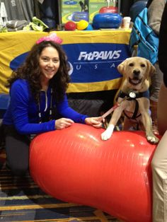 Bolo meets our friends at #FitPAWS at #NAVC www.theboloproject.com #dogisgood #vetconference #leaderdogs #servicedog #guidedog