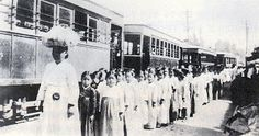 Ewha girls school picnic party in 1908