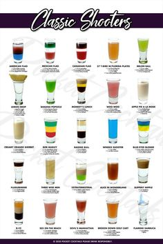 Mixed Drinks Alcohol, Alcohol Drink Recipes, Shot Ideas Alcohol, Tequila Mixed Drinks, Alcohol Shots, Liquor Drinks, Cocktail Drinks, Beverages, Craft Cocktails