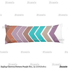 ZigZag Chevron Pattern-Purple Tropical Body Pillow
