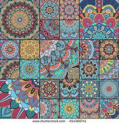 Ceramic Accent Tile - Home Decor - Kitchen/Bathroom Tile - Medallions Multi 02