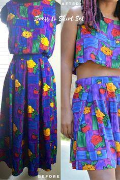 thrift-store-dress-to-skirt-set-diy