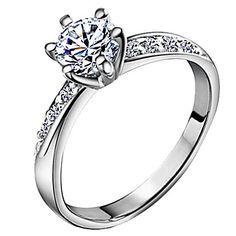 Inel din Argint La Modă cu Piatră din Zirconiu – EUR € 2.79