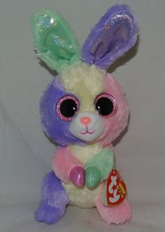 2015 TY Beanie Boos Easter Bunny Rabbit BLOOM 6