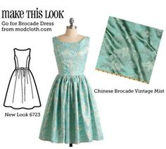 A site that links to patterns for dresses at Modcloth, Dorothy Perkins, etc. I am in soooo much trouble.