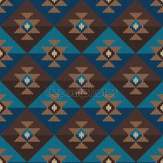 Geleneksel aşiret Aztek desen. Dikişsiz örgü süsleme — Stok Vektör © Atelier_Agonda #67232719