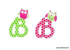 Cursive Letter And Owl...Fabric Iron On by OnceUponaDesign on Etsy, $3.75