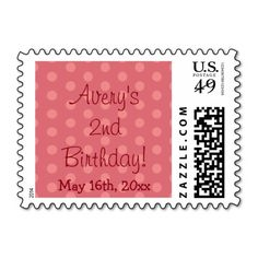 Red Polka Dot Birthday Postage