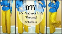 DIY   How to Sew Wide leg Pants   For Beginners (+playlist)