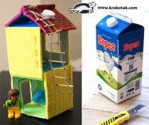milk box doll house