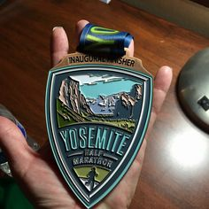 Inaugural Yosemite Half Marathon Finisher's medal