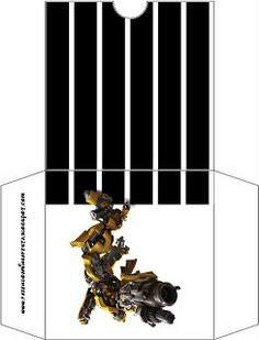 Transformers – Kit Completo com molduras para convites, rótulos para guloseimas, lembrancinhas e imagens! | Fazendo a Nossa Festa