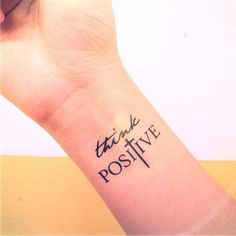 Think Positive temporary tattoo $5, https://www.inknartshop.com/products/stay-strong?variant=2375245827 #tattooremovalproducts