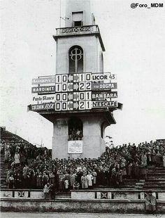 Antiguo marcador simultáneo del Estadio Riazor,  funcionó hasta 1982.