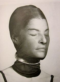 Man Ray - Juliet Browner wrapped in scarf 1945 (possibly influenced by Erwin Blumenfeld's 1937 image?)