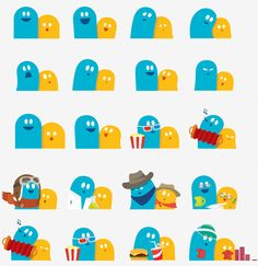 """""""Meebo"""" logo characters called """"Mee"""" and """"Bo"""" by Leslye Smith Character Flat Design, Simple Character, Brand Character, Character Model Sheet, Character Concept, Illustration Design Graphique, People Illustration, Character Illustration, Icon Design"""