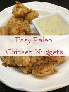 The Best Easy Paleo Chicken Nugget Recipe. Part of our allergy friendly kids in the kitchen series.  via @LarasPlace
