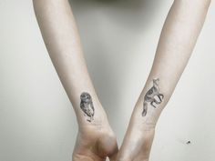 Wow! I want a fox and an owl tattoo, so odd to have found that other people already have both!