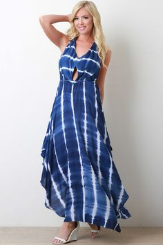 Tie-Dye Handkerchief Maxi Dress