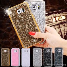 Body Glove Cell Phone Cases Glitter Bling Rhinestone Diamond Bling Luxury Case For Apple Iphone 6/ 6plus Samsung Galaxy S6/S6 Edge Crystal Hard Back Gold Cover Phone Cover From Mayiandjay, $4.39