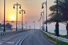 Sunset at king fahd causeway by iagk6mehjv