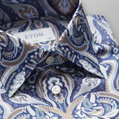 Navy Paisley Print Shirt - Classic fit  2f6bacb13d627