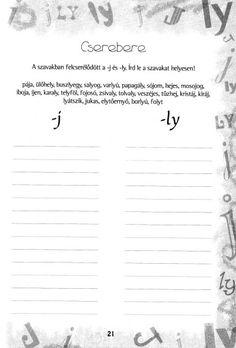 Album Archive - Ly vagy j ? Speech Therapy, Grammar, Sheet Music, Literature, Study, Math Equations, Album, Teaching, Writing