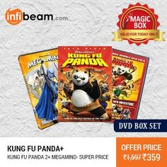Kung Fu Panda + Kung Fu Panda 2 + Megamind Movies DVD BOX SET at Lowest Rate from Infibeam's MagicBox !   Assuring Lowest Price in Magic Box Deals!   HURRY ! OFFER ENDS TODAY MIDNIGHT !  #MagicBox #Deals #DealOfTheDay #Offer #Discount #LowestRates Kung Fu Panda Kung Fu Panda 2 Megamind #DVD #BoxSet #Movies #Hollywood #Entertainment