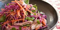 Coconut chicken slaw