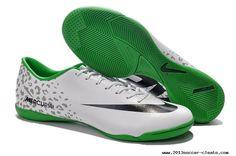 Cheap Nike Mercurial Victory IV Indoor - White Black Green Green Football Boots, Indoor Football Boots, Nike Soccer Shoes, Nike Shoes, Sneakers Nike, Nike Kicks, Discount Nikes, Nike Lebron, Ronaldo