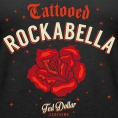 Tattooed Rockabella - Women's Premium Tank Top by Ted Dollar Offical North America . #tattoo #northamerica #quebec #canada #australia #usa #rockabillyrules #caferacer #instamotorcycle #instamoto #rock #apparel #swagg #tshirt #styles #jeans #ink #tattoo #burlesque #love #kustomkulture #gothic #instafashion #kustom #bettiepage #model #teddollar #chopper #rockabilly #pinup