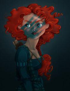 Merida Braveheart style...