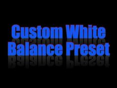 Setting the WB to a custom PRESET on the Nikon is a simple and straight forward process in life view. White Balance, Photo Quality, Nikon, Photo Editing, Neon Signs, Youtube, Photography, Editing Photos, Photograph