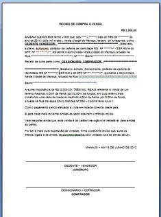 Modelo de Recibo de Compra e Venda Online | Brasil e Dinheiro