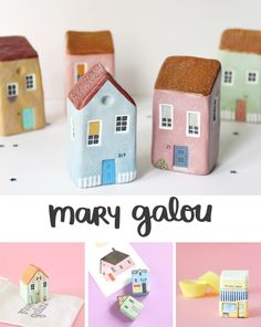 Wire Crafts, Polymer Clay Crafts, Wooden Crafts, Diy Clay, Clay Houses, Ceramic Houses, Ceramic Clay, Paper Clay, Clay Art