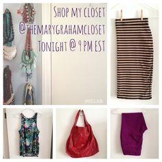 Instagram sale tonight at 9 PM EST! #shopmycloset #instagram