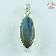 Unusual Shape 925 Sterling Silver Labradorite Stone Pendant Jewellery P2576 #SilvexImagesIndiaPvtLtd #Pendant